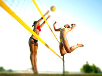 beach volleybal